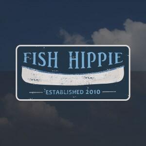 Fish Hippie Canoe Sticker