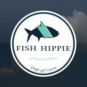 Fish Hippie Window Sticker