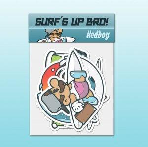 Get Hedboy Surf Sticker