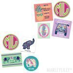 Marley Lilly Preppy Stickers Set